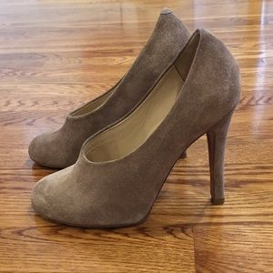 Chloe Suede Stilettos in a beautiful taupe